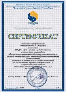 Сертификат Байбакова Н. Ю.